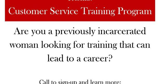 Customer Service Training Program Flyer