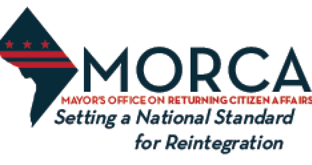 "Logo reading ""MORCA:  Setting the National Standard for Reintegration"""
