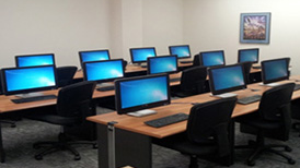Photo of a computer training class